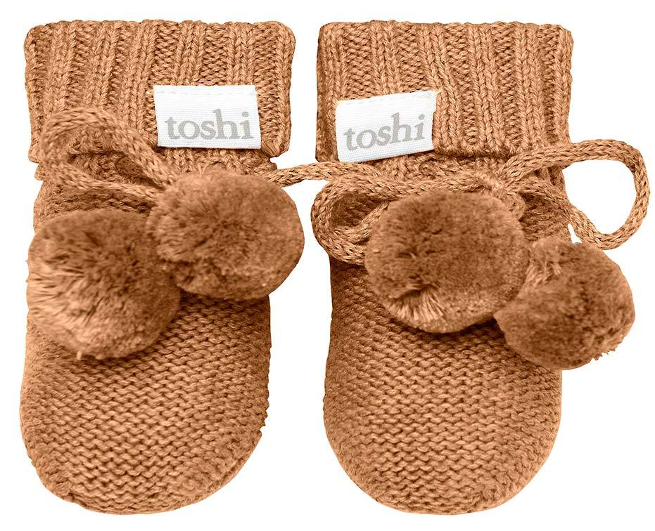 Raspberry Lane Boutique Toshi Organic Booties - Pecan