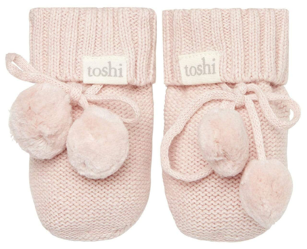 Raspberry Lane Boutique Toshi Organic Booties - Peony