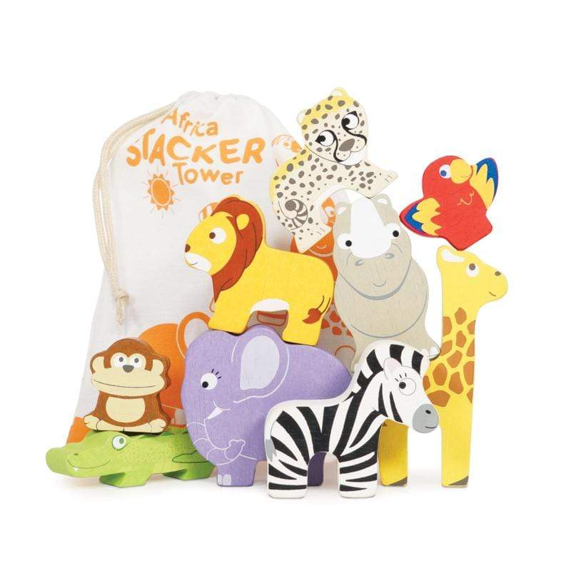 Raspberry Lane Boutique Toys Africa Stacker and Bag
