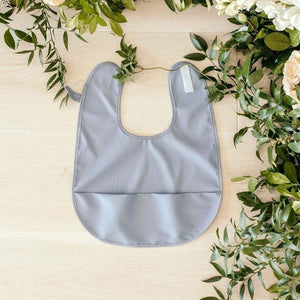 Raspberry Lane Boutique Waterproof Bib - Sky