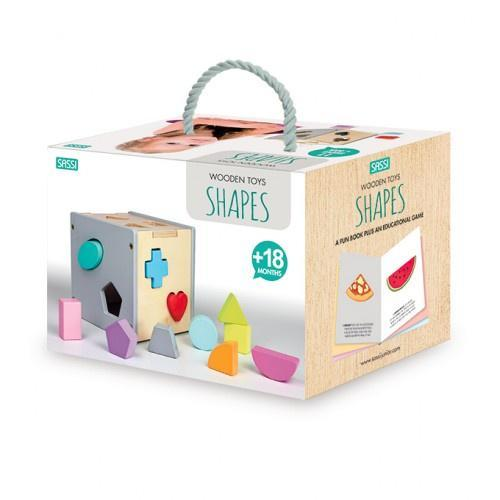 Raspberry Lane Boutique Wooden Sorting Box and Book - Shapes