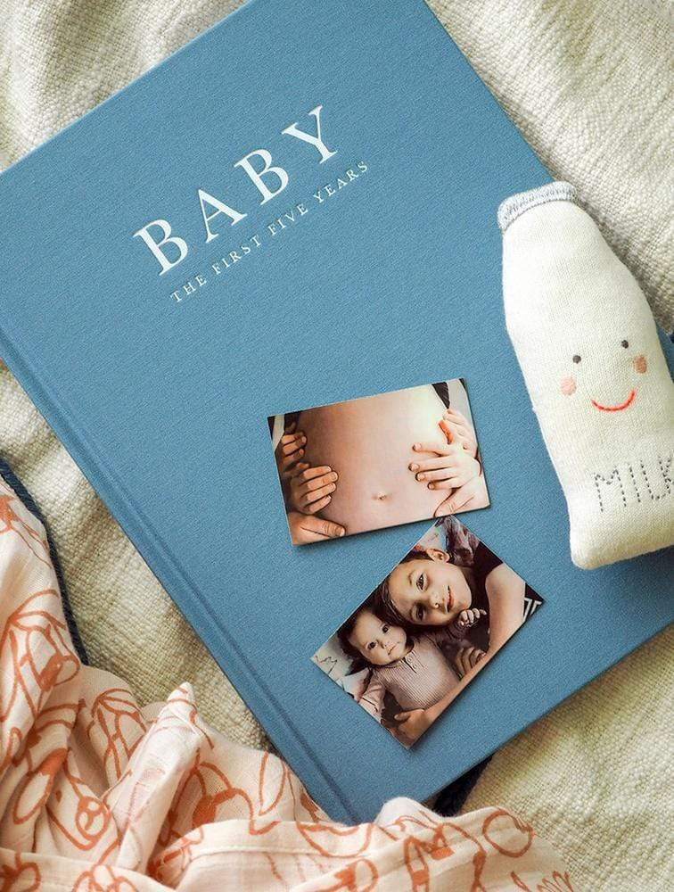 Raspberry Lane Boutique Write To Me Baby Journal - Birth to Five Years - Blue