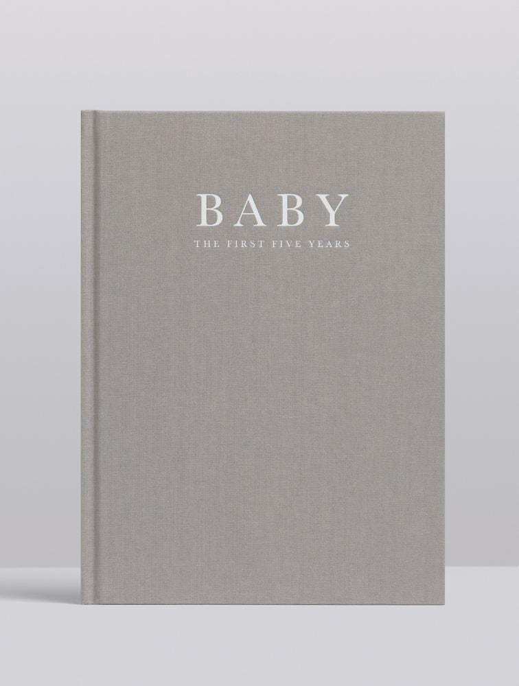 Raspberry Lane Boutique Write To Me Baby Journal - Birth to Five Years - Grey