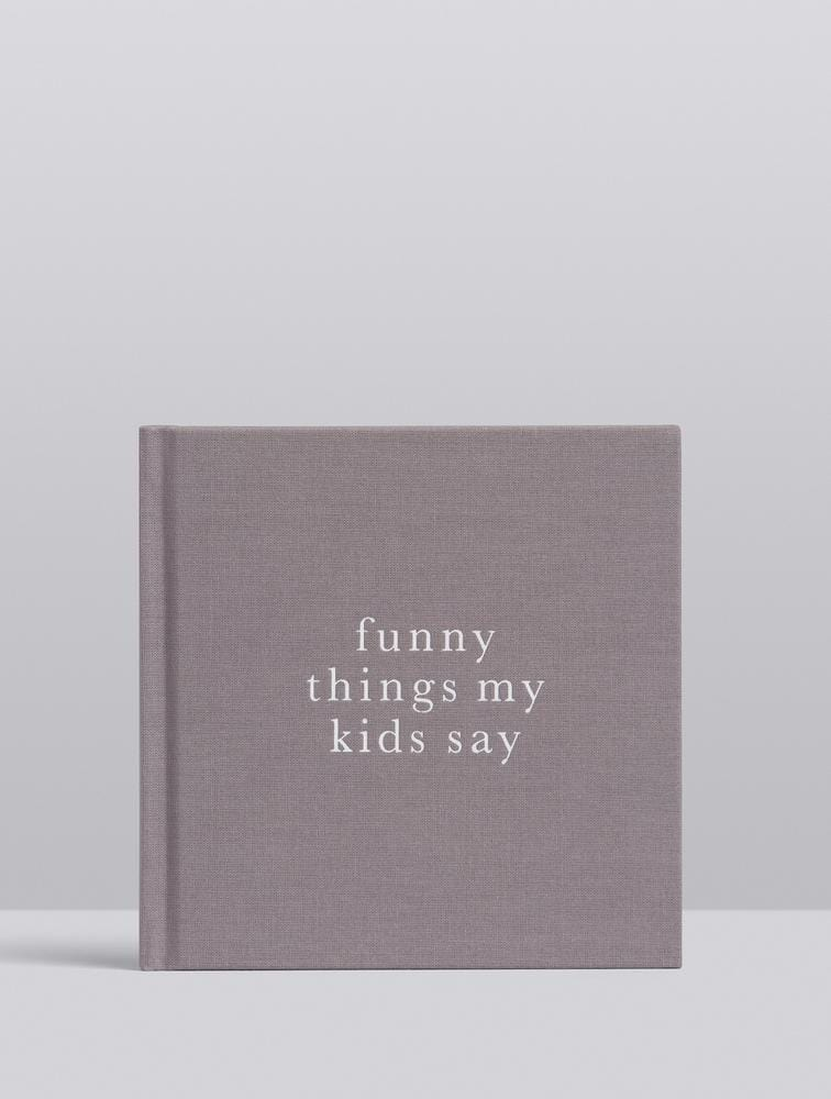Raspberry Lane Boutique Write To Me - Funny Things My Kids Say - Grey