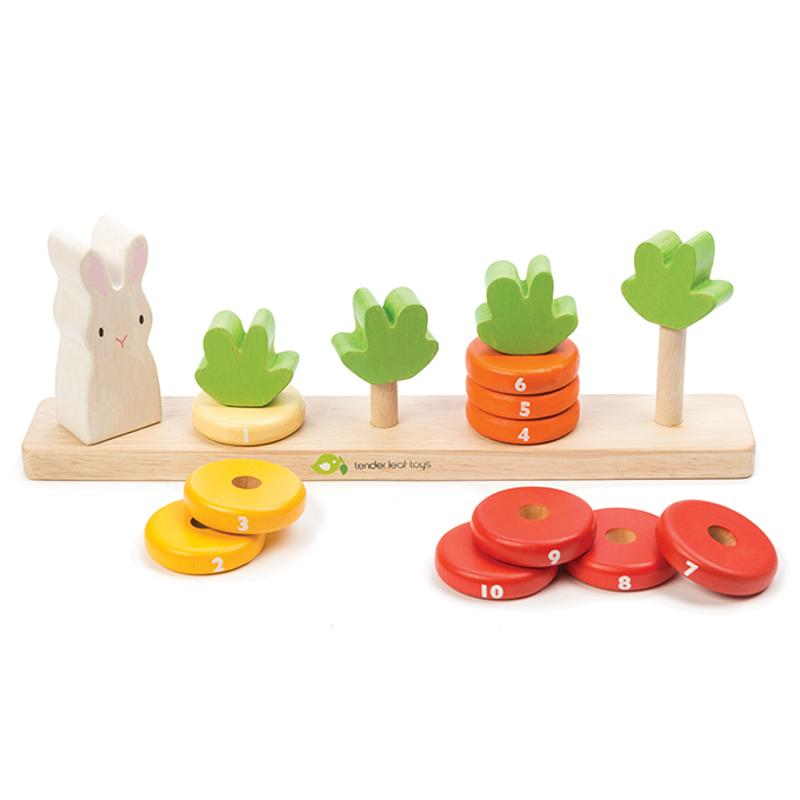 Tender Leaf Toys Toys Counting Carrots Wooden Stacker