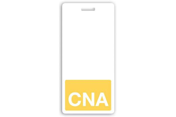 CNA Vertical White Text Badge Buddy- 25 - All Things Identification