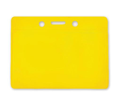 Yellow Horizontal  Color-Back Vinyl Badge Holder  - 100 Badge Holders 1820-2009 - All Things Identification