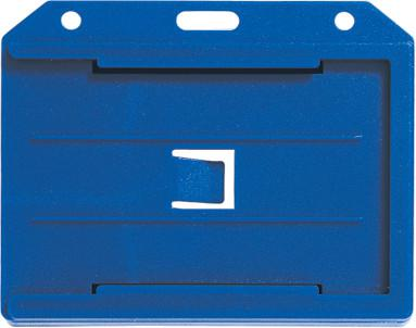 "Blue Horizontal 2-Sided Multi-Card Holder 3.65"" x 2.94"" 1840-3052 - All Things Identification"