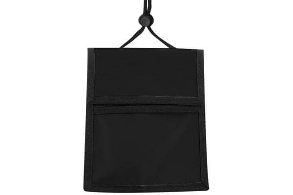 Black Nylon Multi-Pocket Credential Wallet with Neck Cord - All Things Identification