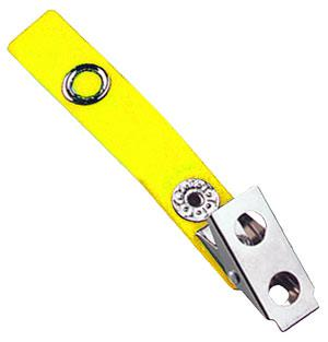 2-Hole Badge Clip with Yellow Strap - 500 - All Things Identification