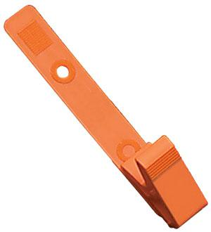 Orange All Plastic Badge Clip - 100 - All Things Identification