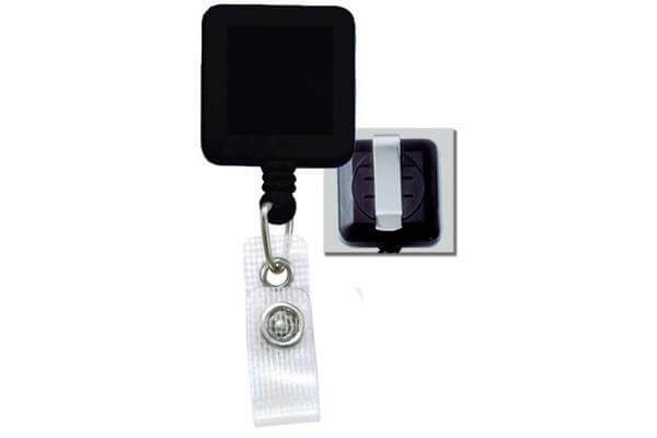 Black Badge Reel with Reinforced Vinyl Strap | Belt Clip - 25 - All Things Identification