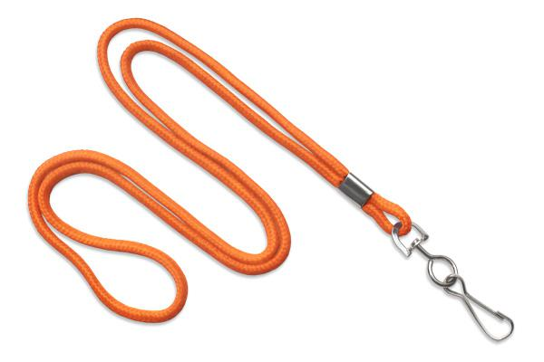 "Orange Round 1-8"" Lanyard Swivel Hook - All Things Identification"