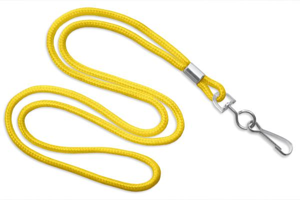 "Yellow Round 1-8"" Lanyard Swivel Hook - All Things Identification"