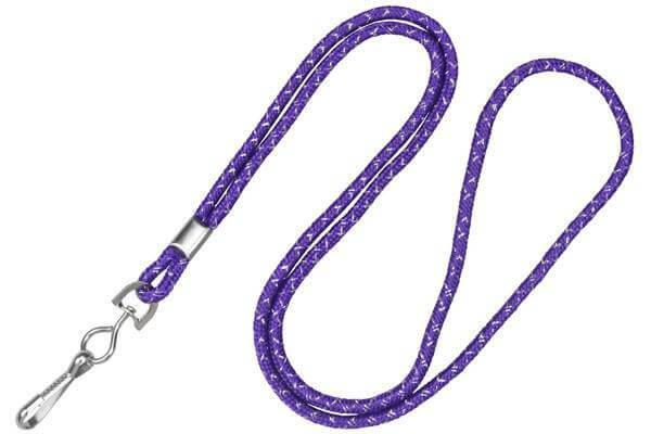 Purple Silver Metallic Lanyard - All Things Identification