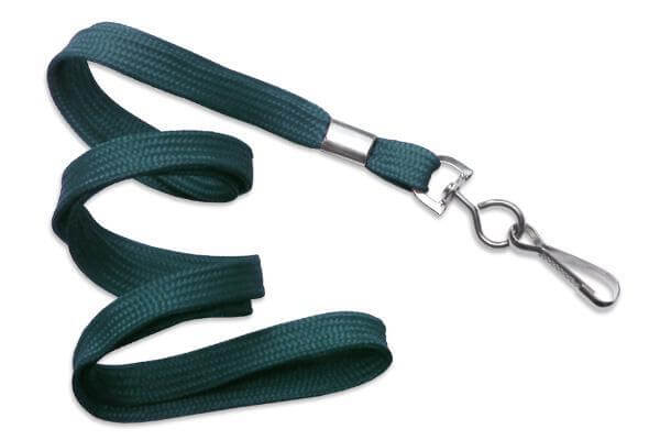 "Teal 3-8"" Flat Woven Lanyard Swivel Hook - All Things Identification"