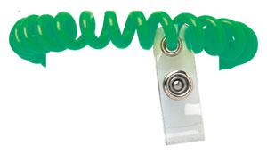 Green Plastic Wrist Coil with Strap Qty 500 2140-6104 - All Things Identification