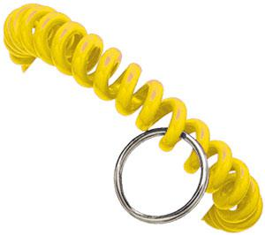 Yellow Plastic Wrist Coil with Key Ring Qty 500 2140-6309 - All Things Identification