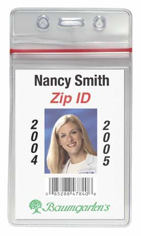 Baumgartens Sealable ID Badge Holder - Vert. - (Qty 250) 47840 - All Things Identification