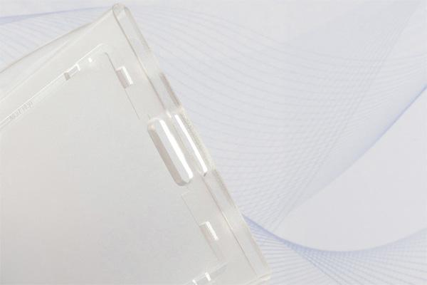 "Clear Rigid Hard Plastic Horizontal Locking 2-Card Holder 3.375"" x 2.13"" 706-LT1 - All Things Identification"
