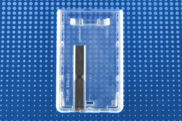 "Rigid Hard Plastic Vertical Smart Card Holder with Slide Ejector 2.28"" x 3.6"" 736-N - All Things Identification"