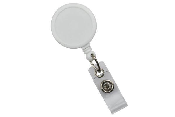White Round Max Label Reel With Strap And Slide Clip - 25 - All Things Identification