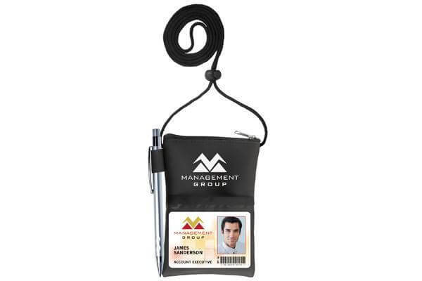 Black Vinyl Credential Wallet - All Things Identification
