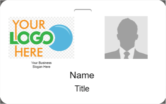 Employee ID Badge Template H-2