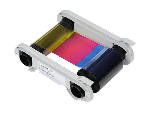 Evolis 1-2 YMCKO Half-Panel Color Ribbon for Zenius, Elypso, and Primacy Printers (400 prints) R5H00 - All Things Identification