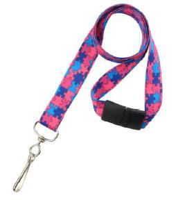 Autism Awareness Puzzle Lanyard 2138-5281 - All Things Identification