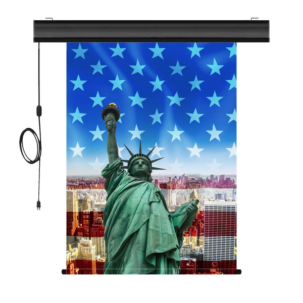 "Motorized Photo Backdrop with IR Wireless Remote, Black Casing, 36"" x 48"" - DIGITAL PRINT - All Things Identification"