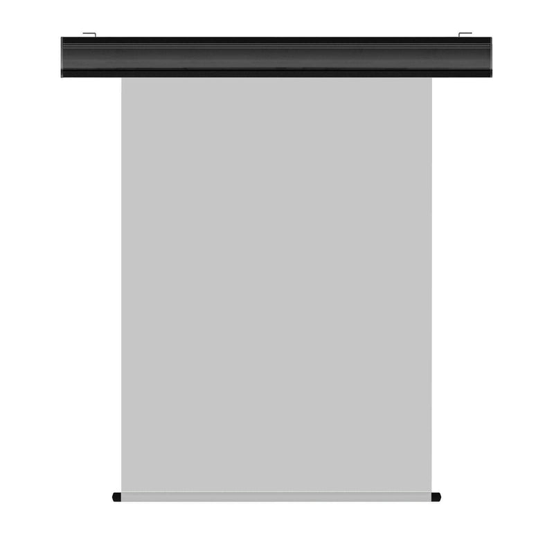 "Motorized Photo Backdrop 36"" x 48"" - Grey with Black Casing - All Things Identification"
