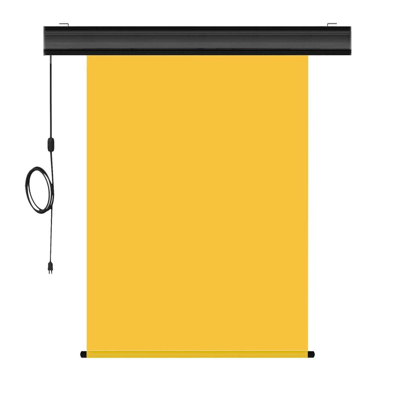 "Motorized Photo Backdrop with IR Wireless Remote 36"" x 48"" - Yellow with Black Casing - All Things Identification"