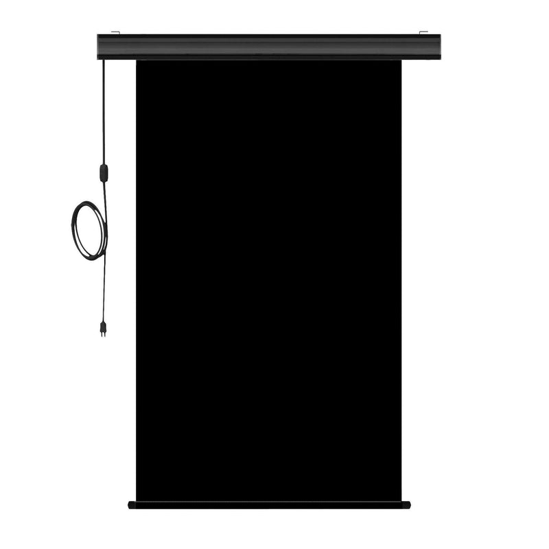 "Motorized Photo Backdrop 48"" x 84"" - Black with Black Casing - All Things Identification"