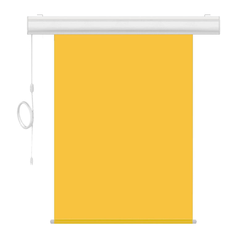 "Motorized Photo Backdrop 36"" x 48"" - Yellow with White Casing - All Things Identification"