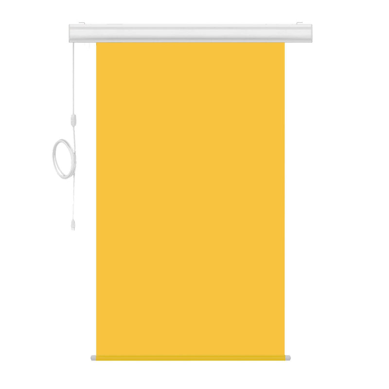 "Motorized Photo Backdrop with IR Wireless Remote 48"" x 84"" - Yellow with White Casing - All Things Identification"