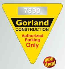125 - Triangle Shape Custom Window Parking Decal - All Things Identification