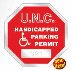 125 - Octagon Shape Custom Window Parking Decal - All Things Identification
