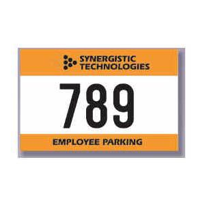 "125 Custom Bumper Decal Parking Permits 2.25"" x 3.50"" - All Things Identification"