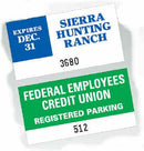 "125 Custom Parking Stickers -  2.25"" x 4.25"" - All Things Identification"