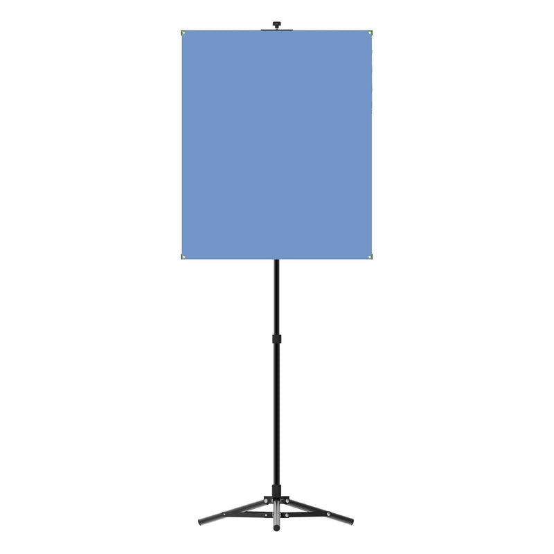 Portable Photo Backdrop Stand with Light Blue Backdrop - All Things Identification