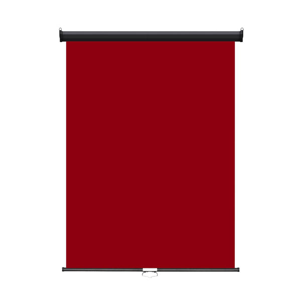 "Retractable Photo Backdrop  Black Casing,   36"" x 48"" - RED - All Things Identification"