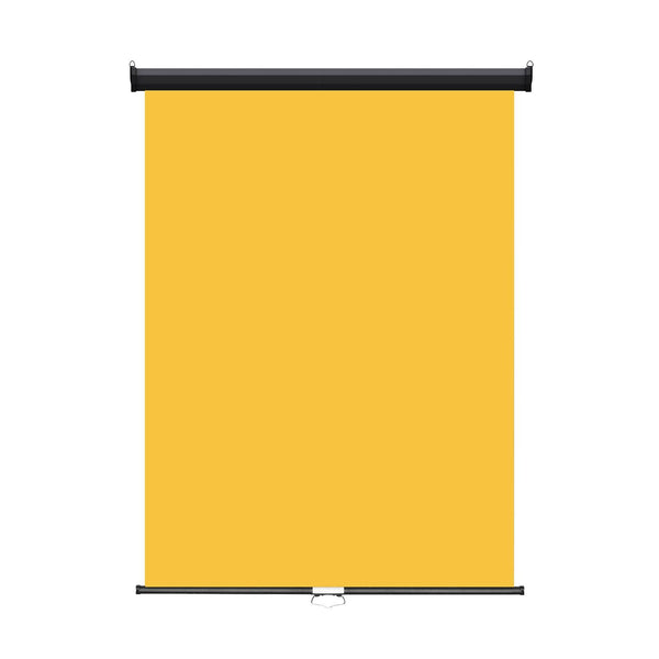 "Retractable Photo Backdrop  Black Casing,  36"" x 48"" - YELLOW - All Things Identification"