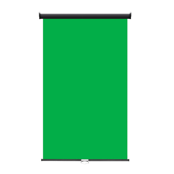 "Retractable Photo Backdrop, Black Casing, 48"" x 84"" - GREEN SCREEN - All Things Identification"