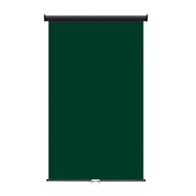 "Retractable Photo Backdrop Black Casing,  48"" x 84"" - GREEN - All Things Identification"