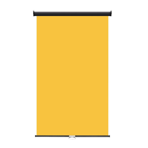 "Retractable Photo Backdrop Black Casing,  48"" x 84"" - YELLOW - All Things Identification"