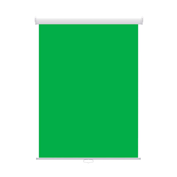 "Retractable Photo Backdrop, White Casing, 36"" x 48"" - GREEN SCREEN - All Things Identification"