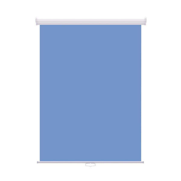 "Retractable Photo Backdrop White Casing,  36"" x 48"" - LIGHT BLUE - All Things Identification"