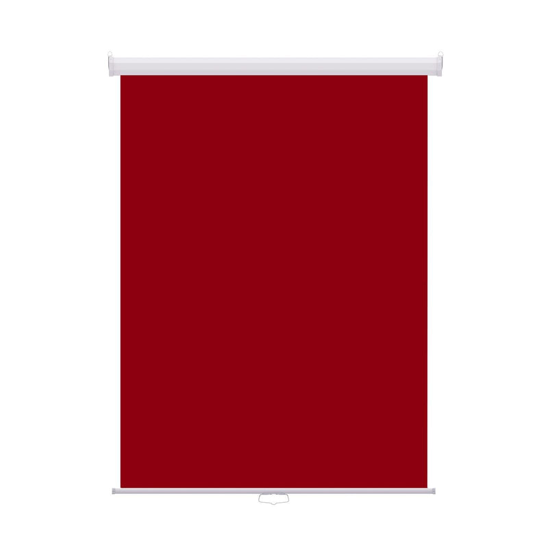 "Retractable Photo Backdrop White Casing,  36"" x 48"" - RED - All Things Identification"