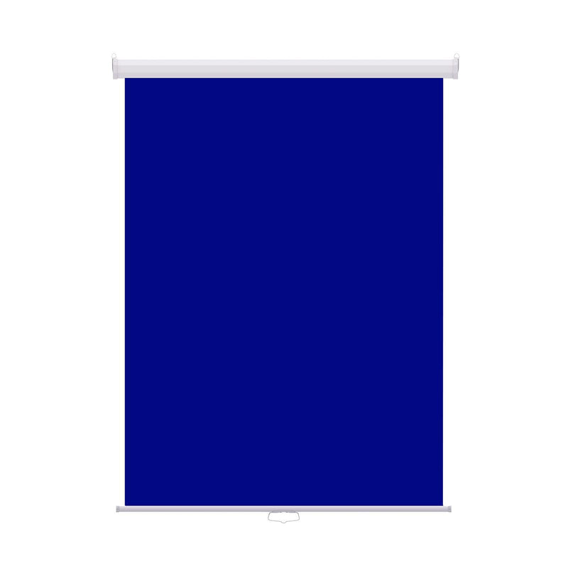 "Retractable Photo Backdrop White Casing,  36"" x 48"" - ROYAL BLUE - All Things Identification"